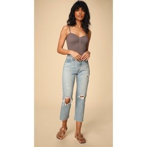 Free People Other - NWT Free People Catch Up Dusty Purple Bodysuit